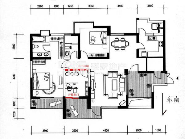 元 户型: 3室2厅 朝向: 南 楼层: 高楼层(共31层) 小区: 天合凯旋城