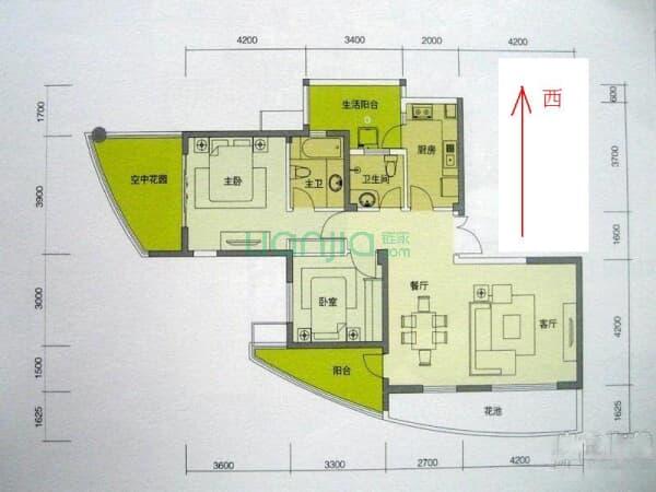 元 户型: 2室2厅 朝向: 东 楼层: 高楼层(共32层) 小区: 远大都市风景