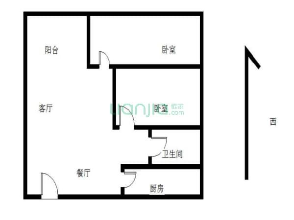 户型: 2室2厅 朝向: 南北 楼层: 低楼层(共23楼) 小区: 神仙树馨苑(高