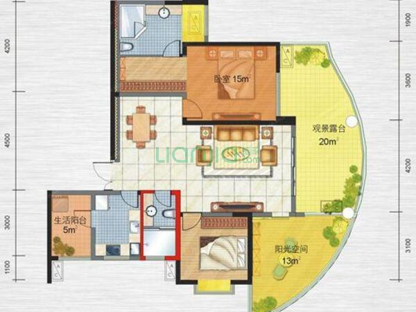 元 户型: 2室2厅 朝向: 南 楼层: 低楼层(共30层) 小区: 远大都市风景