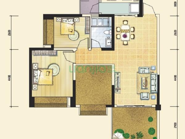 户型: 3室1厅 朝向: 西南 楼层: 中楼层(共33楼) 小区: 万景峰二期(高